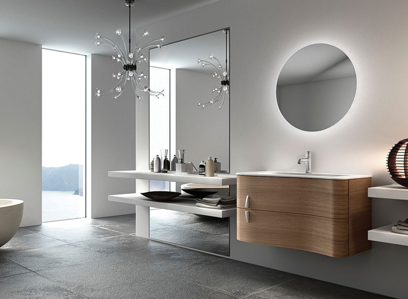 Ablaze premium back-lit mirrors run on a low engery light allowing the light to be left on contantly and used as a night light. All modfels include LED Lights and a 12 Volt transformer.