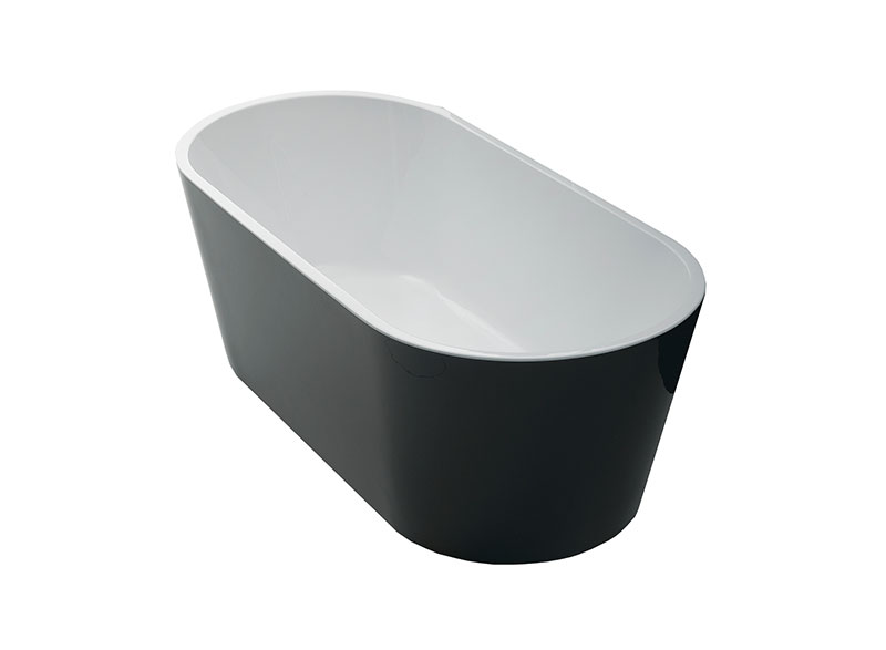 Millennium baths feature minimalist narrow profile side walls and ultra-modern