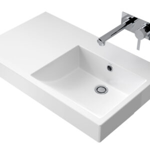 The Liano Nexus basin range has been designed for those that favour sharp lines and square styling. Displaying an architectural minimalist style
