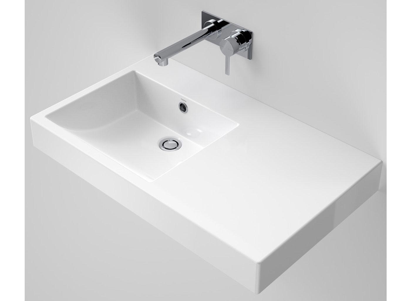 liano nexus wall basin 750 righthand shelf white 3
