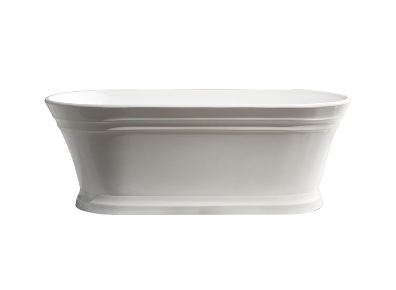 This classic oval shape is timeless in design. It has a traditional look with elegant curves and panel style