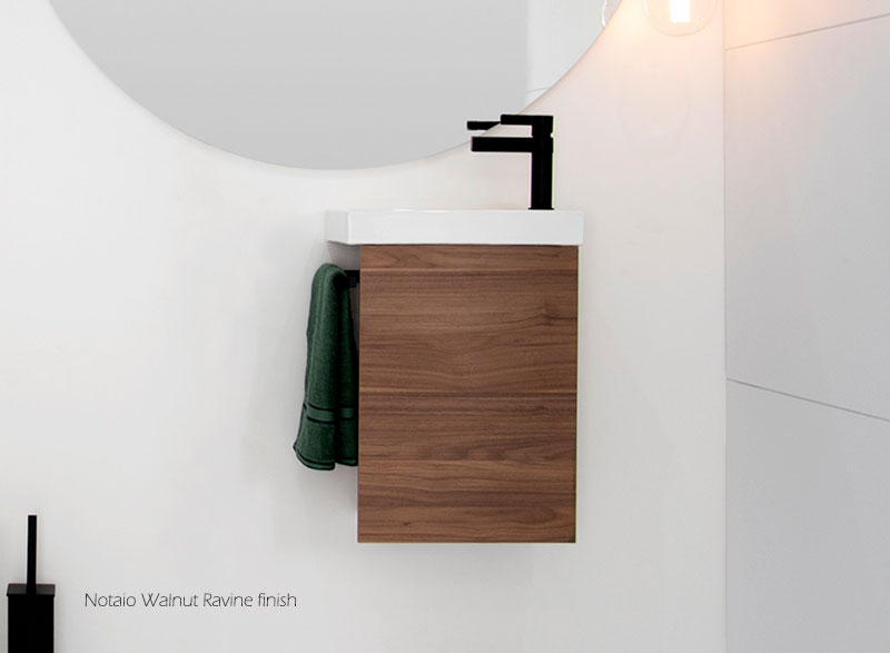 Seek ? the extra smart bathroom storage solution with an integrated hand towel rail.