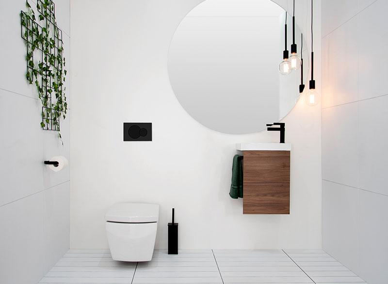 - Compact wall hung vanity