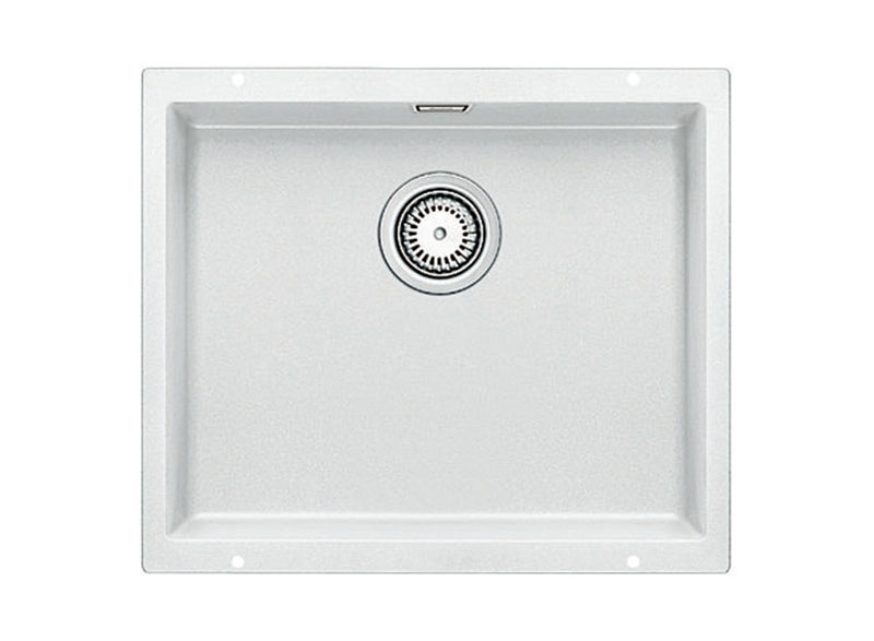 The designer line for undermount sinks in Silgranit finish. This medium single bowl sink provides a generous bowl capacity