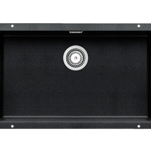 The designer line for undermount sinks in Silgranit finish. This large single bowl sink provides a generous bowl capacity