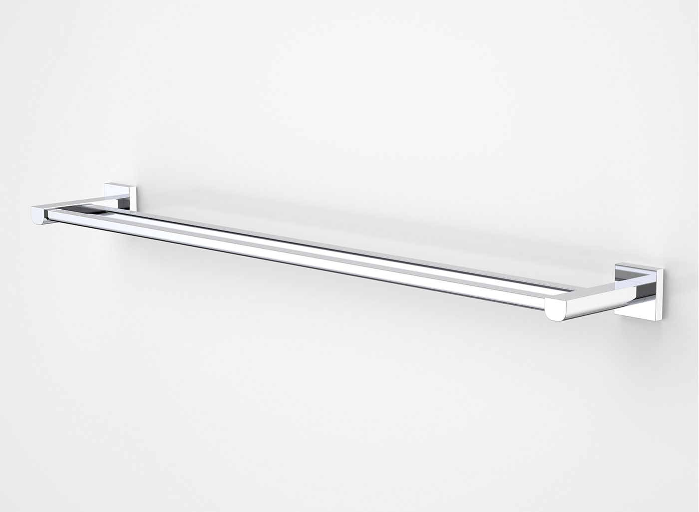 viridian double towel rail 800mm 2
