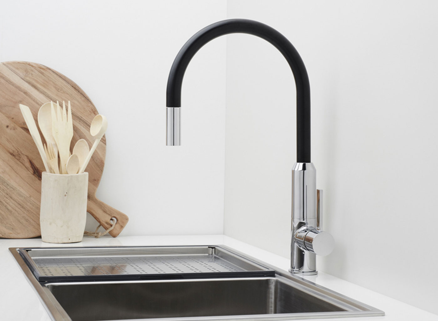 with a two tone finish option making it an ideal kitchen feature.