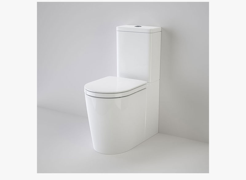 Caroma Cleanflush Liano Easy Height toilet suites offer the modern designer a signature architectural